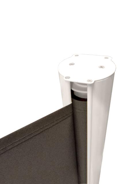 1 6m X 3m Seitenmarkise Mit Vollkassette Gr N Und Wei