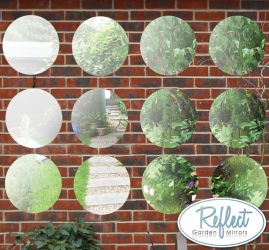 Reflect™ 12er-Set Gartenspiegel aus Acryl, 40cm