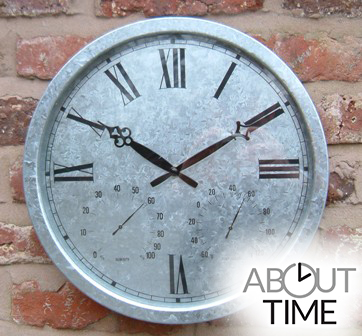 Verzinkte Uhr, 35cm - About Time™
