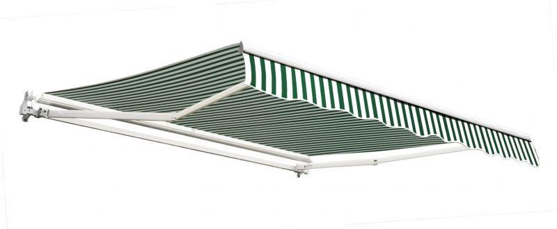3m g nstige gelenkarmmarkise gr n und wei gestreift 189 99. Black Bedroom Furniture Sets. Home Design Ideas