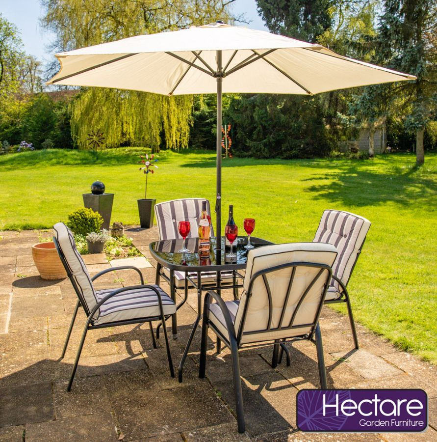 Gartenmöbelset Hadleigh 4-Sitzer mit Kissen, Hectare ™
