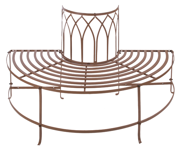 alium halbrunde baumbank trentino braun 199 99. Black Bedroom Furniture Sets. Home Design Ideas