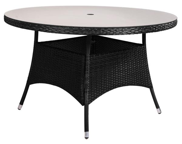 asha runder gartentisch mit 4 st hlen und sonnenschirm in schwarz lugo 789 99. Black Bedroom Furniture Sets. Home Design Ideas