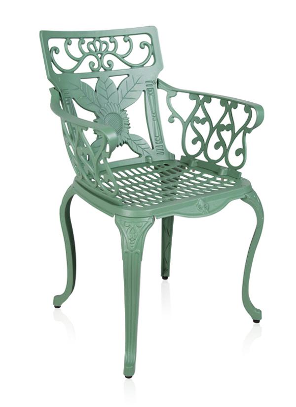 alium lincoln rechteckiger gartentisch in gr n mit 4 st hlen 599 99. Black Bedroom Furniture Sets. Home Design Ideas