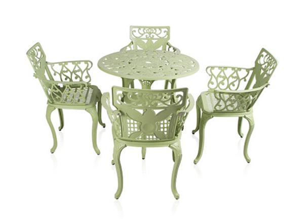 alium lincoln gartentisch mit 4 st hlen aus aluminiumguss salbeigr n 449 99. Black Bedroom Furniture Sets. Home Design Ideas