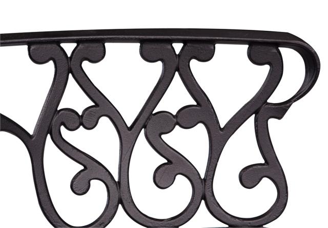 Runder Gartentisch Mit 4 Stühlen In Gussaluminium Schwarz
