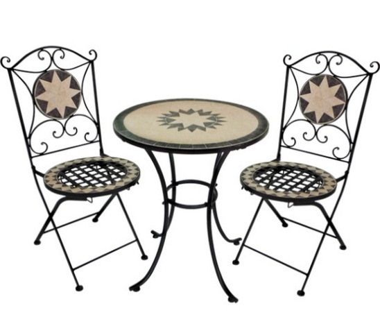 3 teiliges mosaik bistro set 109 99. Black Bedroom Furniture Sets. Home Design Ideas