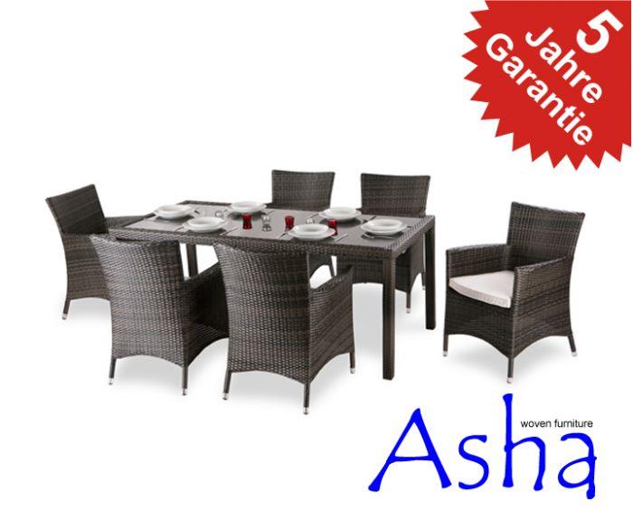 Asha™ Rattan Gartenmöbel-Set \