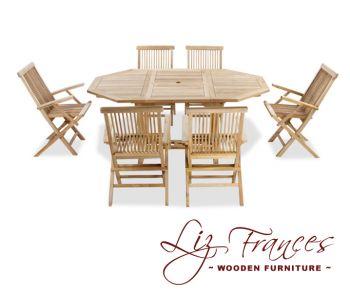 gartenm belset aus a klasse teakholz lakeland 7 tlg. Black Bedroom Furniture Sets. Home Design Ideas