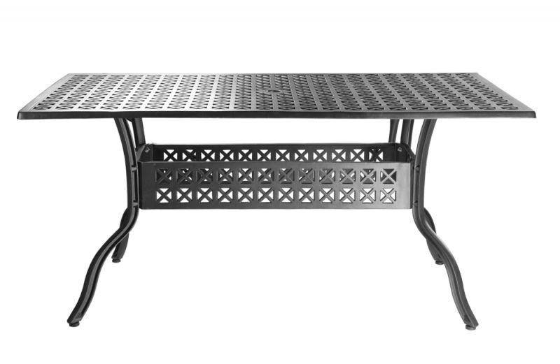 alium lincoln rechteckiger gartentisch in schwarz mit 4. Black Bedroom Furniture Sets. Home Design Ideas
