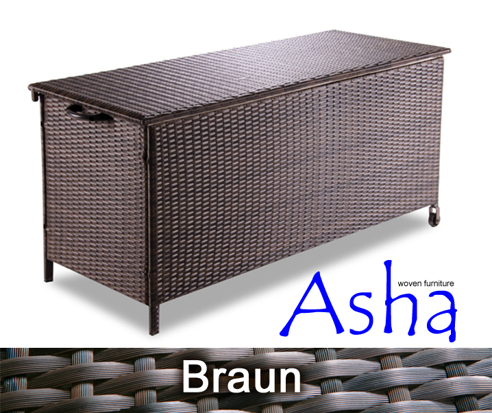 asha leighton garten aufbewahrungsbox aus rattan. Black Bedroom Furniture Sets. Home Design Ideas