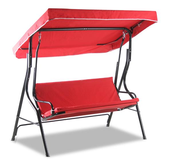 alium 3 sitzer hollywoodschaukel mit dach in rot 99 99. Black Bedroom Furniture Sets. Home Design Ideas