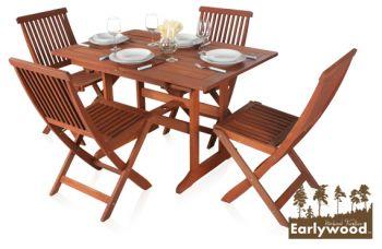 earlywood ilford tisch mit 4 st hlen aus hartholz 459 99. Black Bedroom Furniture Sets. Home Design Ideas
