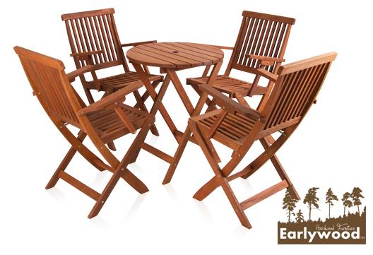 earlywood ilford runder tisch und 4 st hle aus hartholz 229 99. Black Bedroom Furniture Sets. Home Design Ideas