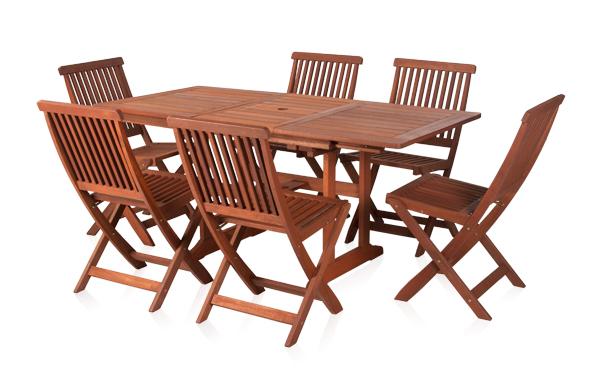 Earlywood™ Ausziehbarer Gartentisch Mit 6 Ilford Stühlen