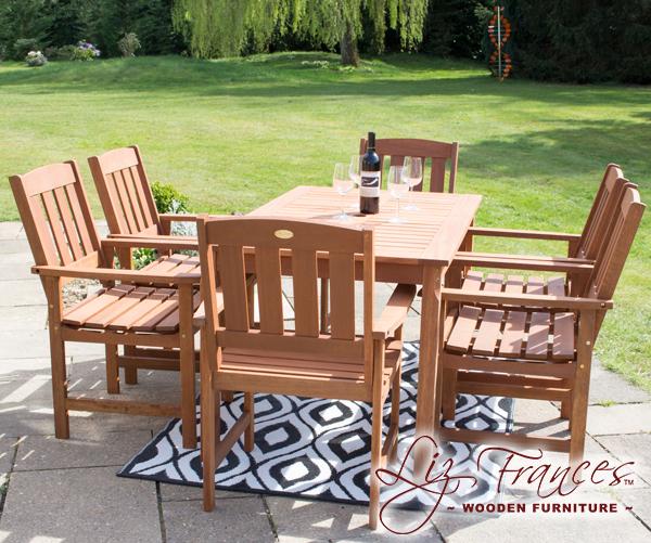 liz frances gartenm bel set kendal richmond aus hartholz 499 99. Black Bedroom Furniture Sets. Home Design Ideas