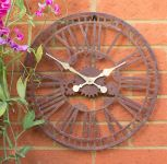 "About Time™ Dekorative Gartenuhr ""Mechanical"", 40cm"