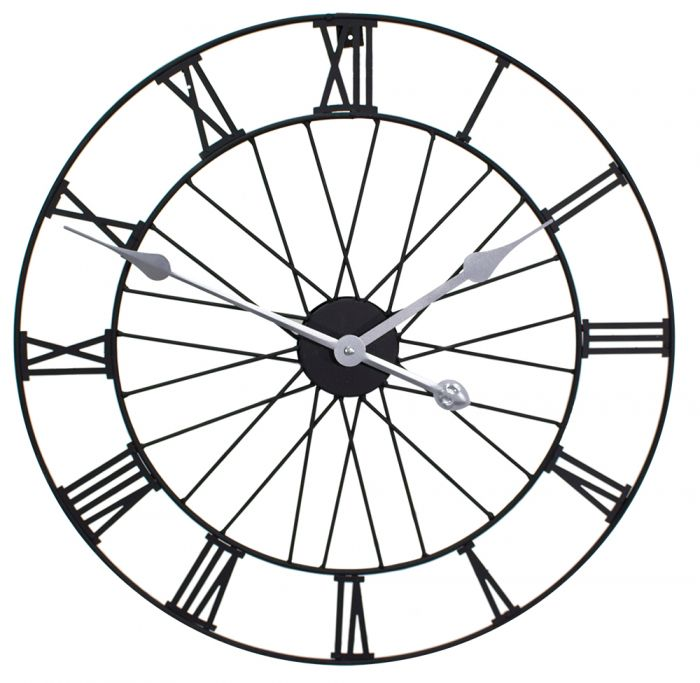 "Gartenuhr ""Wheel"", schwarz, 50cm-About Time™"