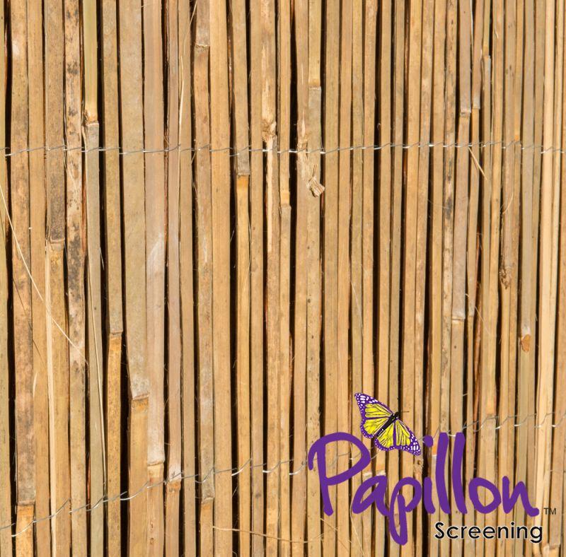 sichtschutz aus bambusleisten bambusmatte 120cm x 400cm papillon 17 99. Black Bedroom Furniture Sets. Home Design Ideas