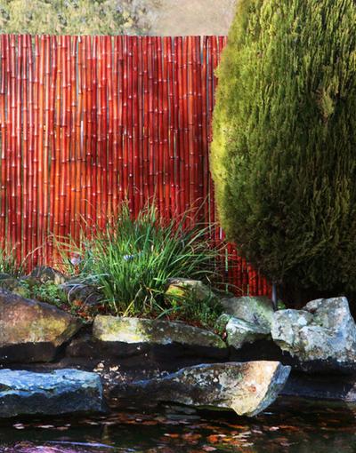 bambusmatte 180cm x 190cm vollrohr rot papillon 94 99. Black Bedroom Furniture Sets. Home Design Ideas