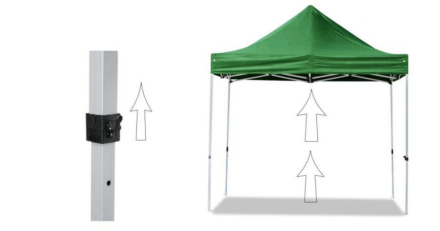 3m x 4 5m pavillon mit stahlgestell 340g m wasserfest. Black Bedroom Furniture Sets. Home Design Ideas