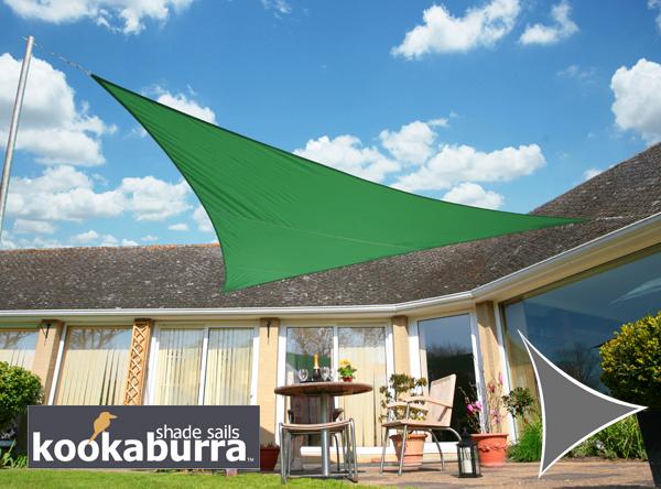 kookaburra 3 0m dreieck gr n gewebtes sonnensegel wasserfest 15 99. Black Bedroom Furniture Sets. Home Design Ideas