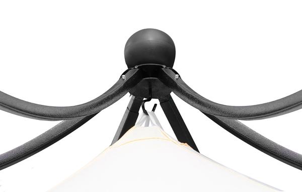gartenpavillion harlington deluxe mit stahlrahmen und dach 134 99. Black Bedroom Furniture Sets. Home Design Ideas