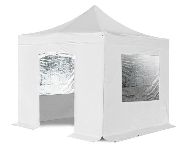seitenw nde mit t r f r das premium falt pavillon wei 69. Black Bedroom Furniture Sets. Home Design Ideas