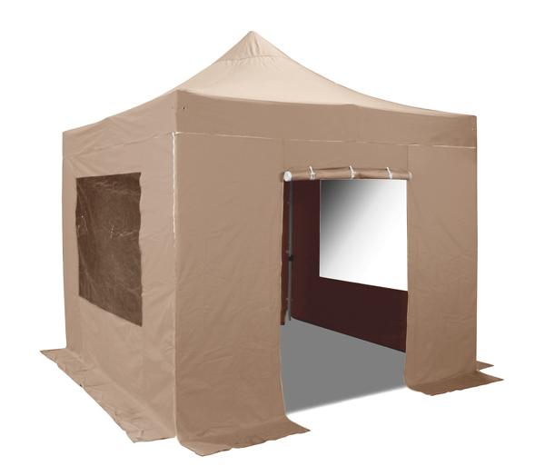 seitenw nde mit t r und fenster f r 3m x 3m falt pavillon. Black Bedroom Furniture Sets. Home Design Ideas