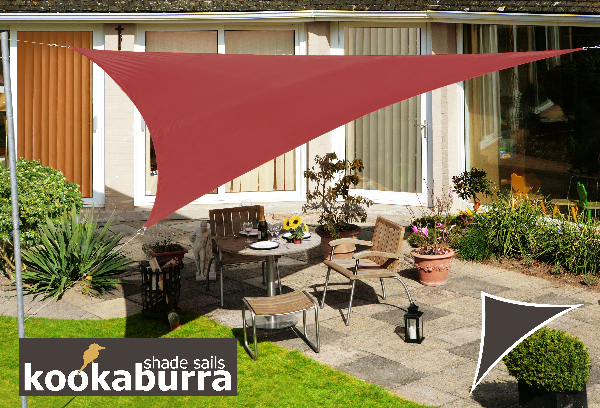 kookaburra 3 6m dreieck marsala gewebtes sonnensegel wasserfest 54 99. Black Bedroom Furniture Sets. Home Design Ideas
