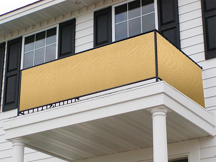balkonsichtschutz aus polymer 90cm x 300cm sandfarben 39. Black Bedroom Furniture Sets. Home Design Ideas