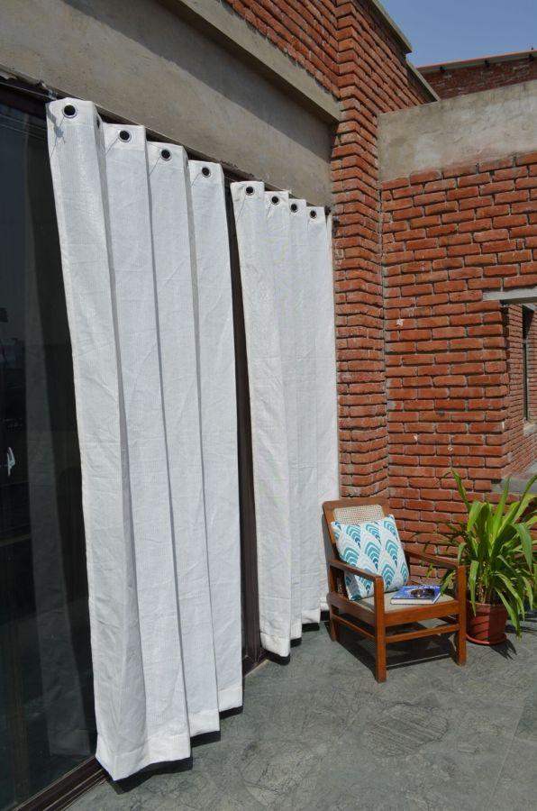 2er set vorh nge f r den au enbereich 185g m 228cm x 274cm wei und gelb gestreift 49 99. Black Bedroom Furniture Sets. Home Design Ideas