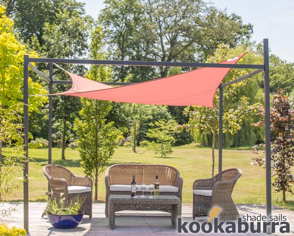 kookaburra 3m x 2m wasserfestes sonnensegel terrakotta inkl rahmen und befestigungsset 204 99. Black Bedroom Furniture Sets. Home Design Ideas