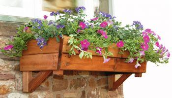 Blumenkasten aus Holz für Wand oder Fensterbank 39,99 €