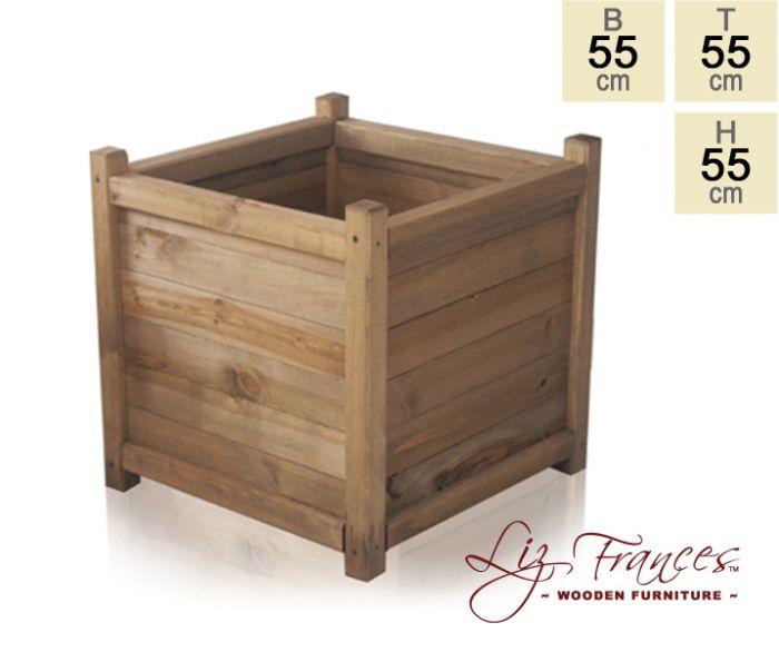 blumenk bel aus holz 55cm x 55cm x 55cm liz frances 89 99. Black Bedroom Furniture Sets. Home Design Ideas
