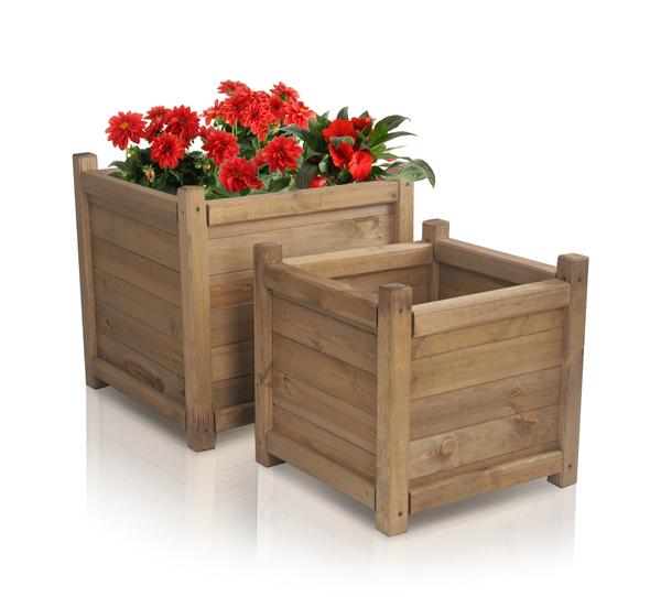 blumenk bel aus holz 45cm x 45cm x 45cm liz frances 74 99. Black Bedroom Furniture Sets. Home Design Ideas