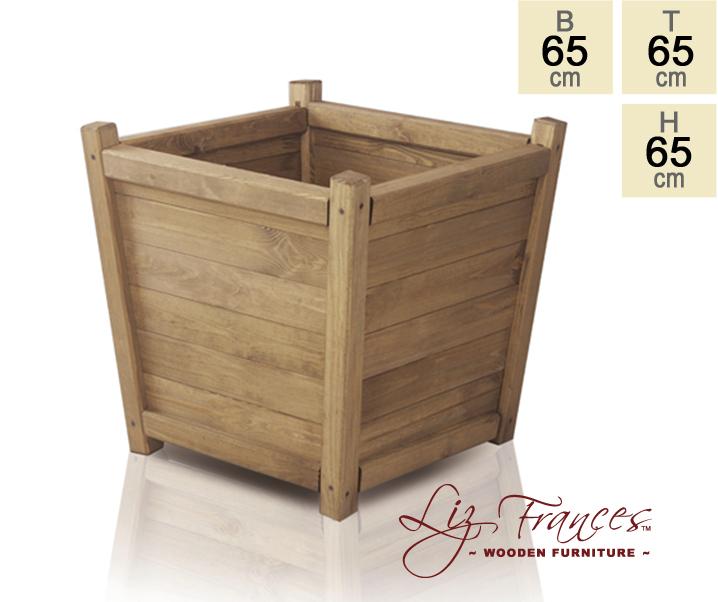 blumenk bel aus holz 65cm 65cm x 65cm liz frances 99 99. Black Bedroom Furniture Sets. Home Design Ideas