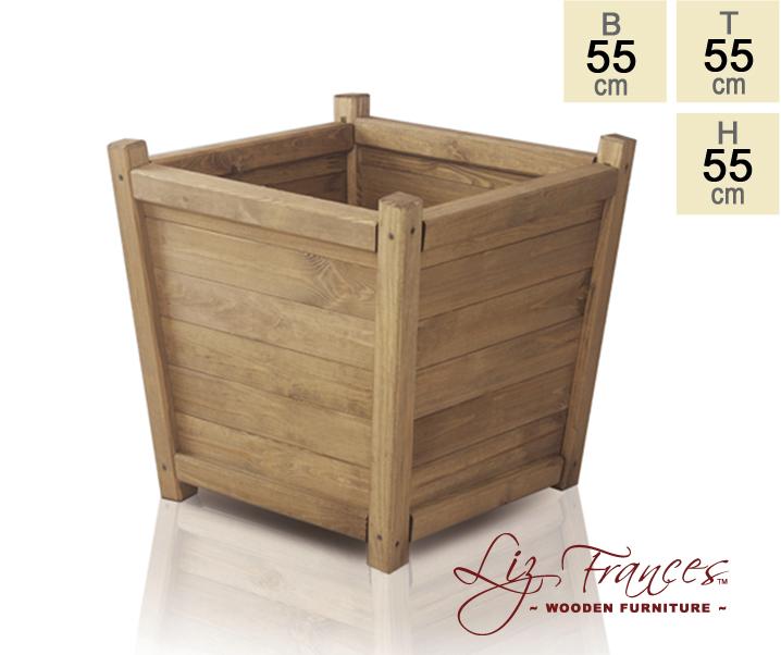 blumenk bel aus holz 55cm x 55cm x 55cm liz frances 84 99. Black Bedroom Furniture Sets. Home Design Ideas