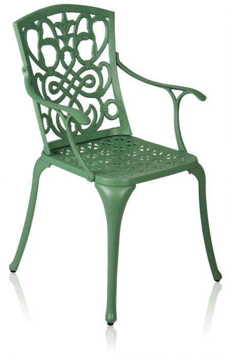 alium cleveland runder gartentisch in gr n mit 6 st hlen aus aluminiumguss 859 99. Black Bedroom Furniture Sets. Home Design Ideas