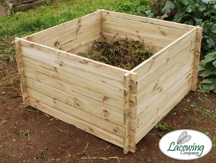 893 Liter Komposter Aus Holz 70cm X 113cm X 113cm Lacewing 62 99