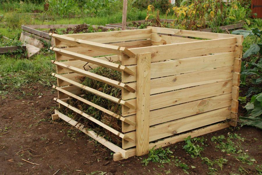 530 Liter Komposter Aus Holz Mit Stecksystem 65cm X 92cm X 92cm