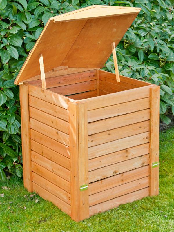 288 liter komposter aus holz mit deckel 80cm x 60cm x 60cm lacewing 79 99. Black Bedroom Furniture Sets. Home Design Ideas