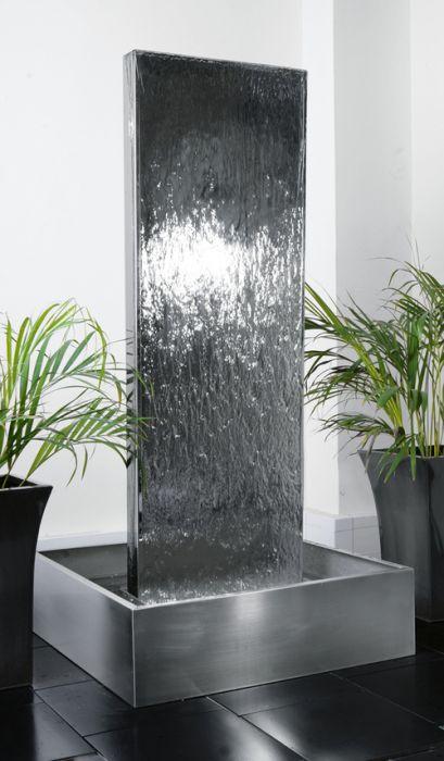 180cm Edelstahl-Wasserwand mit Edelstahlreservoir, Ambienté™