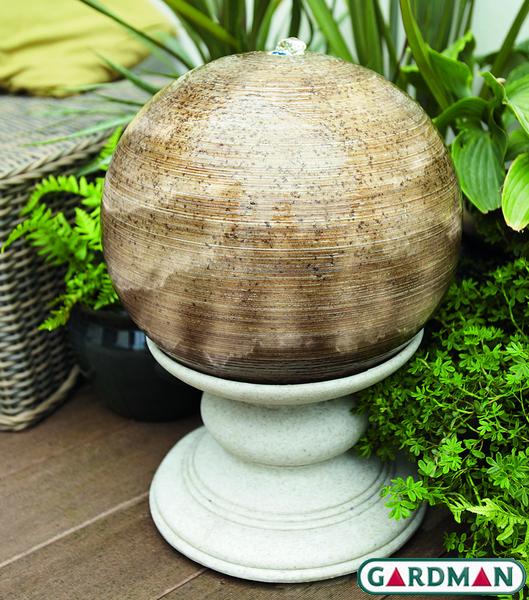 gardman gartenbrunnen infinity orb mit beleuchtung 149 99. Black Bedroom Furniture Sets. Home Design Ideas