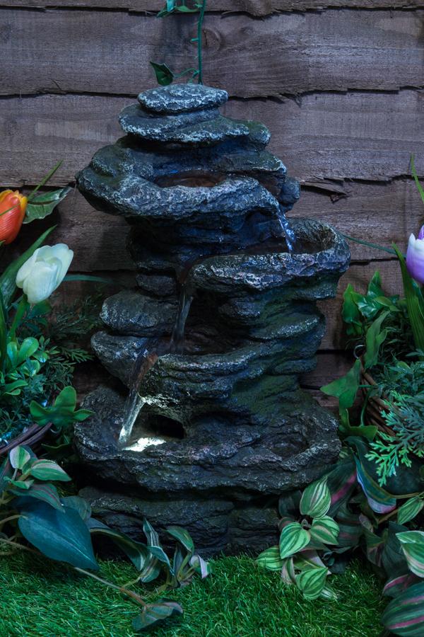 ambient bepflanzbarer tischbrunnen conway falls mit. Black Bedroom Furniture Sets. Home Design Ideas
