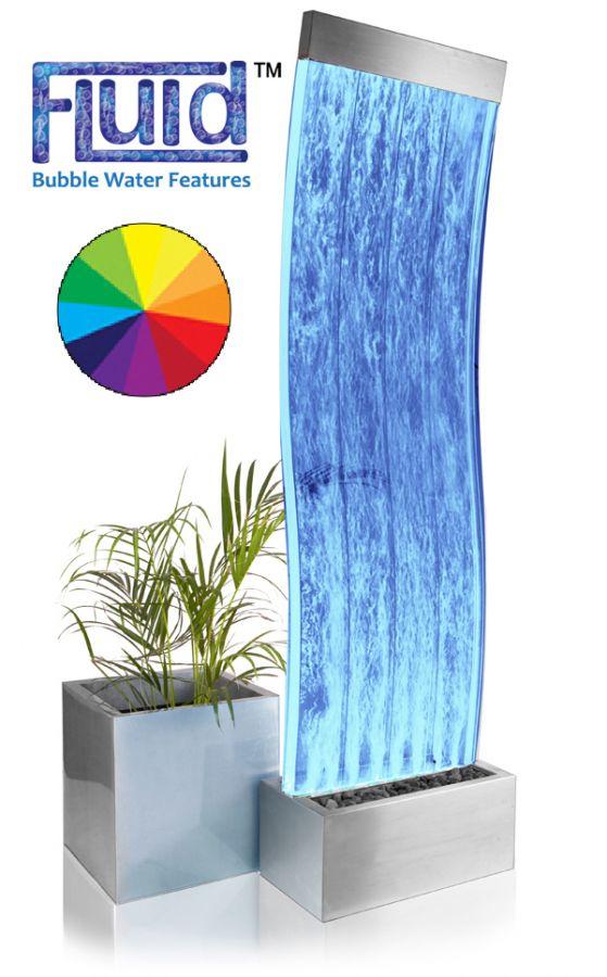 183cm gewellte sprudelnde wasserwand cosmo mit led beleuchtung 574 99. Black Bedroom Furniture Sets. Home Design Ideas