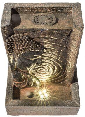ambient buddha tischbrunnen mit led beleuchtung 24cm 59. Black Bedroom Furniture Sets. Home Design Ideas