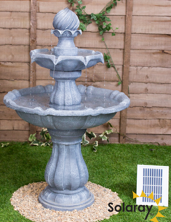 Solar Vogeltränke Garda Mit Springbrunnen Und Led Beleuchtung | 1000 Gartenbrunnen Zimmer Und Solarbrunnen Ab 18 95