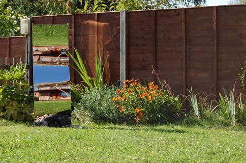 180cm gewellte edelstahl-wasserwand mit plastikreservoir 604,99€, Garten und Bauen