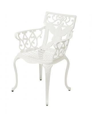 alium lincoln rechteckiger gartentisch in wei mit 4. Black Bedroom Furniture Sets. Home Design Ideas